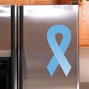 Light Blue Awareness Ribbon Fathead Decal