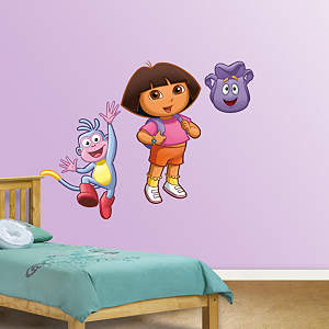 Dora, Backpack & Boots Fathead Wall Decal