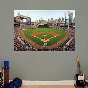 Behind Home Plate At Comerica Park Mural Fathead Wall Decal