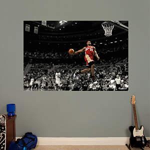 LeBron James Throwback - Slam Dunk Mural Fathead Wall Decal
