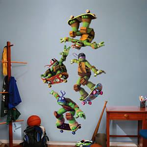 Teenage Mutant Ninja Turtles - Skateboarding Collection Fathead Wall Decal
