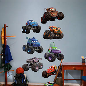 Disney/Pixar Cars - Monster Trucks Collection Fathead Wall Decal