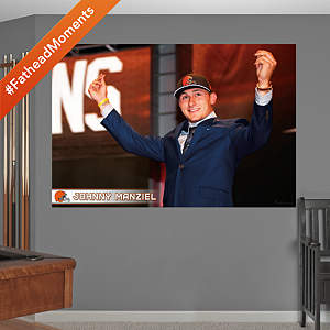Johnny Manziel Money Sign Draft Day Mural Fathead Wall Decal