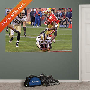 Vernon Davis Winning Touchdown – In Your Face Mural Fathead Wall Decal