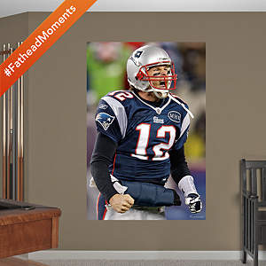 Tom Brady Flex - In Your Face Mural Fathead Wall Decal