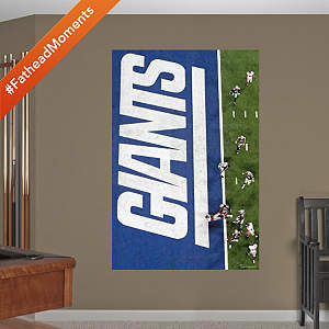 Giants Overhead Super Bowl XLVI Touchdown Mural Fathead Wall Decal