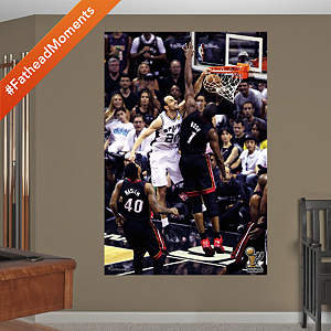 Manu Ginobili 2014 NBA Finals Dunk Mural Fathead Wall Decal