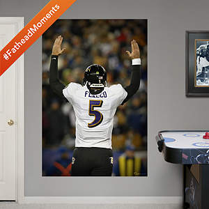 Joe Flacco Playoff Touchdown Celebration Mural Fathead Wall Decal