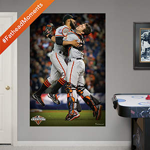 Romo & Posey 2012 World Series Celebration Mural Fathead Wall Decal