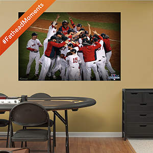 Boston Red Sox - 2013 World Series Celebration Mural Fathead Wall Decal