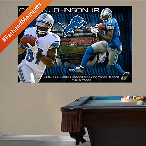 Calvin Johnson Jr. - 2012 Receiving Yards Record Mural Fathead Wall Decal