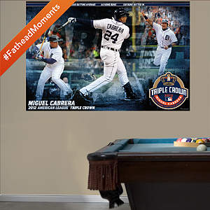 Miguel Cabrera AL Triple Crown Mural Fathead Wall Decal