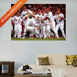 St. Louis Cardinals 2011 World Series Celebration Mural Fathead Wall Decal
