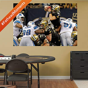 Drew Brees Playoff Dive - In Your Face Mural Fathead Wall Decal
