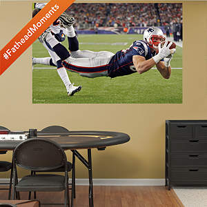 Rob Gronkowski Diving Touchdown - In Your Face Mural Fathead Wall Decal