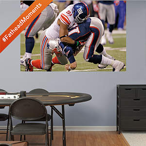 Justin Tuck Super Bowl XLVI Sack Mural Fathead Wall Decal