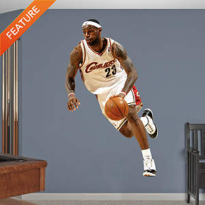 LeBron James Throwback Fathead Wall Decal