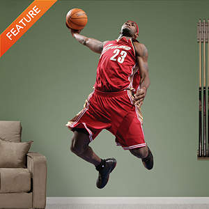 LeBron James Throwback - Slam Dunk Fathead Wall Decal