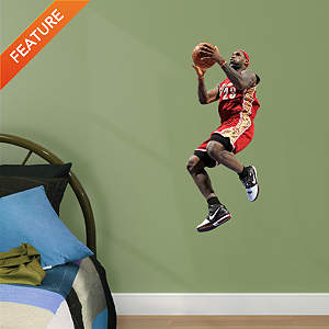 LeBron James Throwback, In The Lane - Fathead Jr Fathead Wall Decal