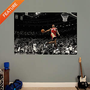 LeBron James Throwback - Slam Dunk Mural Fathead Wall Decal