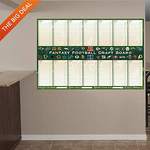 Dry Erase Fantasy Football Draft Board Fathead Wall Decal