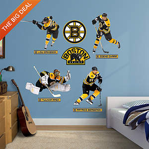 Boston Bruins Power Pack Fathead Wall Decal