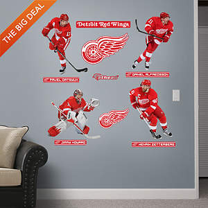 Detroit Red Wings Power Pack Fathead Wall Decal