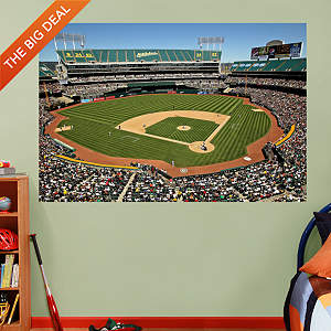Inside Oakland-Alameda County Coliseum Mural Fathead Wall Decal