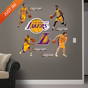 Los Angeles Lakers Power Pack Fathead Wall Decal