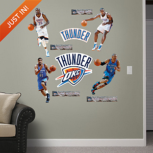 Oklahoma City Thunder Power Pack Wall Decals