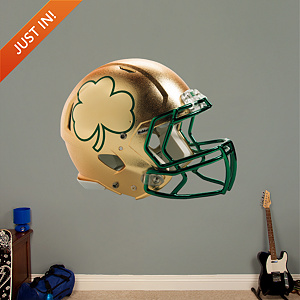 Notre Dame 2013 Gold Shamrock Helmet Fathead Wall Decal