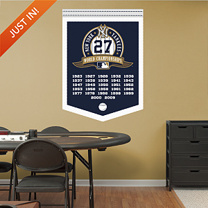 New York Yankees World Series Champions Banner