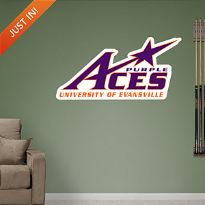 Evansville Purple Aces Logo Fathead Wall Decal