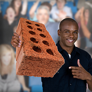 "Basketball ""Brick"" Big Head Cut Out"