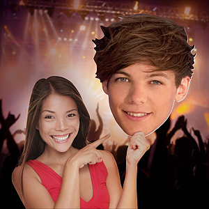 Louis Tomlinson: One Direction Big Head Cut Out