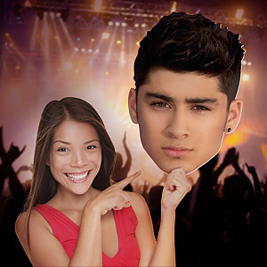 Zayn Malik: One Direction Big Head Cut Out