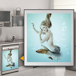 Mermaid: Dishwasher Skin Fathead Wall Decal