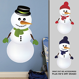 Dry Erase Snowman Collection Fathead Wall Decal