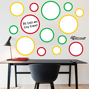 Red, Yellow & Green Dry Erase Message Dots Fathead Wall Decal