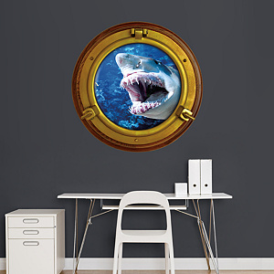 Shark: Porthole Fathead Wall Decal