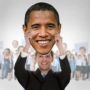 Barack Obama Big Head Cut Out