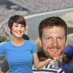 Dale Earnhardt Jr. Big Head Cut Out