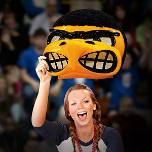Herky the Hawk Big Head - Iowa Hawkeyes Cut Out