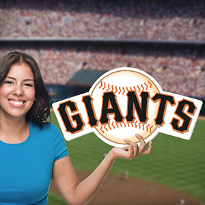 San Francisco Giants Logo Big Head Cut Out