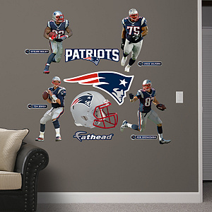 New England Patriots Power Pack Fathead Wall Decal