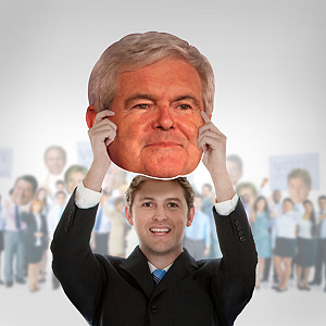 Newt Gingrich Big Head Cut Out