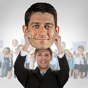 Paul Ryan Big Head Cut Out