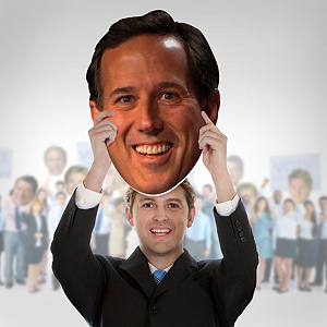 Rick Santorum Big Head Cut Out