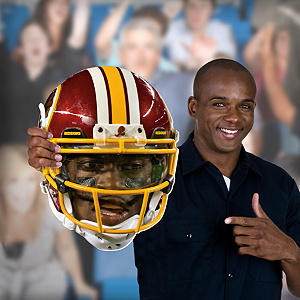 Robert Griffin III Game Day Big Head Cut Out