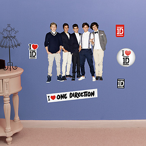 One Direction Collection Fathead Jr Wall Decal